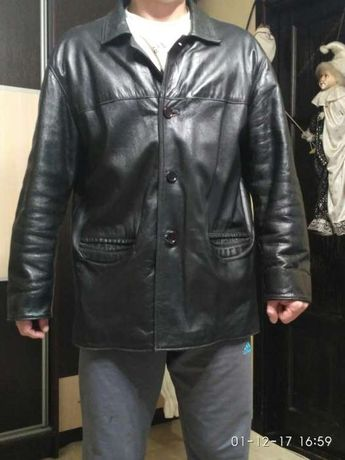 Чоловіча шкіряна куртка 52-го розміра. Львов - изображение 3