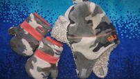 Комплект шапка зимняя брендовая + варежки GAP, оригинал 2- 4года, 51см