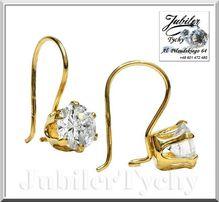 Złote kolczyki z dużymi cyrkoniami 7mm złoto Au 585 Jubiler Tychy 14K