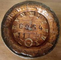 Reklamy zegar w kształcie dekla od beczki