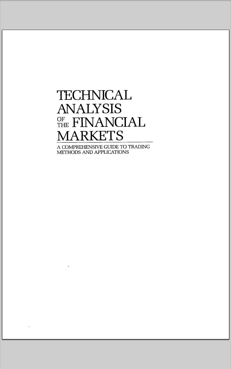 Forex technical anylysis book 0