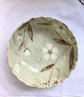 Pastel Green Floral Pattern Plate