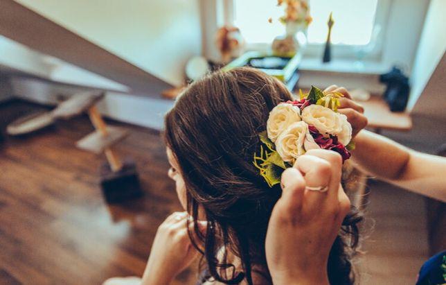 Kwiaty do włosów ślub ślubne upięcie boho Białystok - image 2