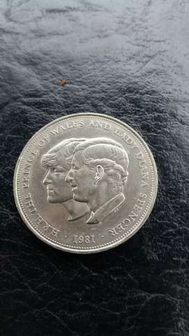 1981 Prince of Wales and Lady Diana Spencer Coin