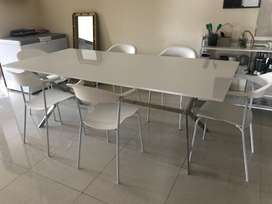 Dining table set with 6 chairs and matching Coffee table
