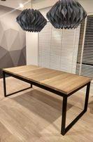 Stół rozkładany Dębowy 120-180x80 Loft Industrialny