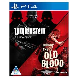 PS4 Wolfenstein The New Order & The Old Blood (PS4). New and Sealed