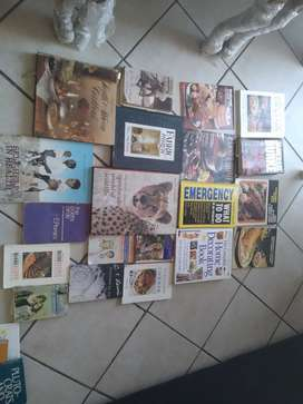 Cooking books, dictionary and novels