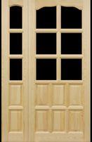 Drzwi drewniane sosnowe dwuskrzydlowe