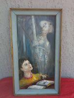 Zabytkowy Obraz - Don Kichot, płótno,olej