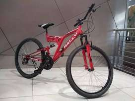 Double shocks bicycle for sale