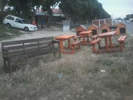 dog kennels and benches