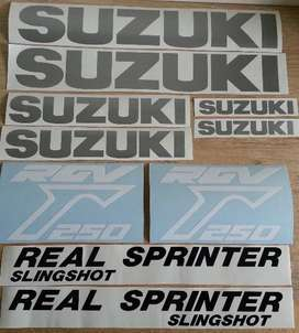 RGV decals graphics / vinyl cut stickers for all years and models
