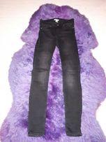 H&M rozm. 36 Jak nowe Spodnie jeansowe czarne/grafit rurki