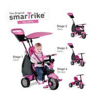 Трехколесный детский велосипед Glow 4 в 1, розовый - Smart Trike