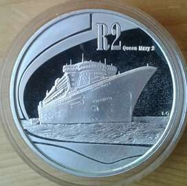 Scarce 2011 proof 1oz silver R2 (Queen Mary 2)