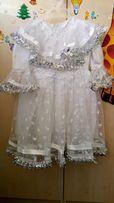 Платье нарядное на 2-3 года, для снежинки