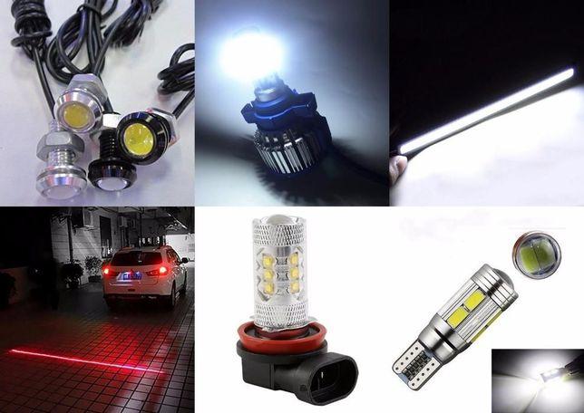 LED лампа H11 H7 H4 H27 880 ПРОТИВОТУМАНКИ ближний свет светодиодные Кривой Рог - изображение 8
