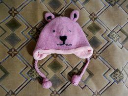 НОВАЯ! Зимняя розовая шапка 40 см на девочку шапочка