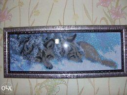 Вышитые бисером волки-символ верности!