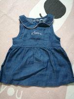 Nowa sukienka dżinsowa r. 62