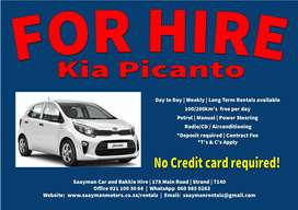 Kia Picanto for Hire