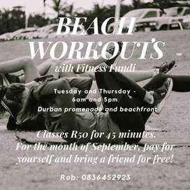Personal training and Durban Beachfront fitness classes