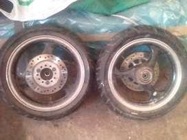 Jonway 150cc front and rear 3star rims and tires