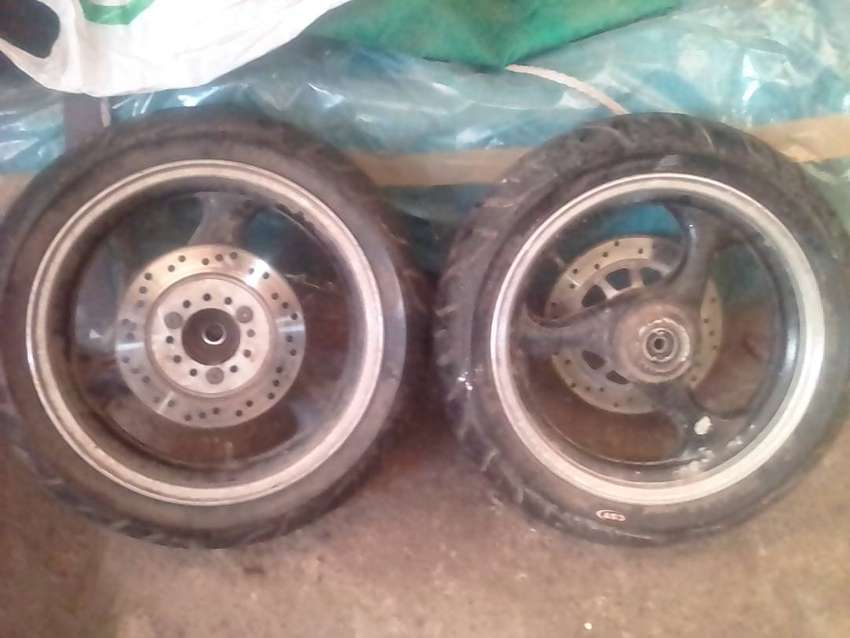 Jonway 150cc front and rear 3star rims and tires 0