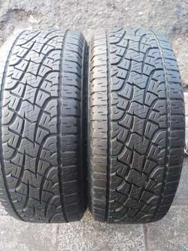 2 × 255 / 55 / 19 pirelli tyres for sale