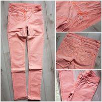 Łososiowe spodnie jeans r.34