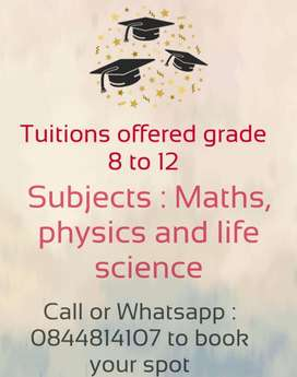 One on one tuitions