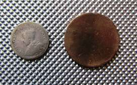 1927 Pence and early 1900's Penny
