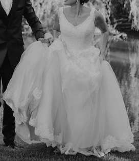 Wedding Dress, Bride and Co, white