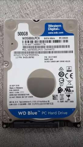 Western digital 2,5 inch 500GB  7200rpm hard-drive
