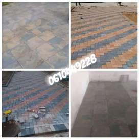 Based on building. Paving. Tiling and roofing