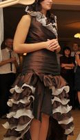 Suknia wieczorowa hiszpanka; studniówka; bal, dla świadkowej