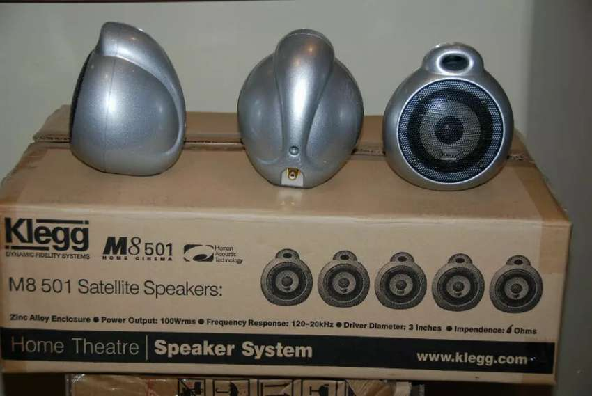 Klegg M8 501 Home Theatre SUB woofer and 5 Satellite alloy speakers 0