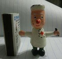 игрушка СССР кукла Доктор Айболит колкий пластик