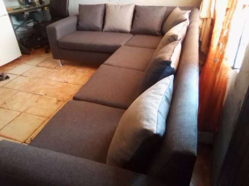 Brand new Grey Lshape couch on sale for R5500 0