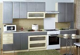 Кухня Хай-Тех. Серебристый металлик. Новая 2,6 м.