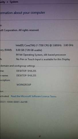 i7 7TH GEN MSI TOWER BRAND NEW R7000