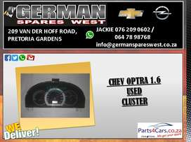 CHEV OPTRA 1.6 2005 ( MANUAL) USED CLUSTER FOR SALE