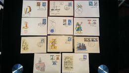 Koperty okolicznościowe ze stemplami i znaczkami Pierwszy dzień obiegu