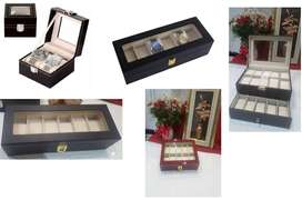 Gift Ideas! Watch and Jewellery display cases -Various Sizes & Colours