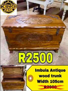 Antique wood chest
