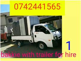 Removal truck and bakkie