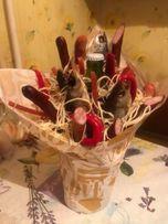 Букеты из цветов и фруктов