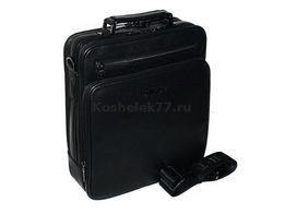 Мужская кожаная сумка черный HT из турция (Формат: больше А5 HT