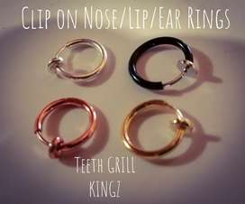No need for PIERCINGS Clip on Nose / Lip Rings